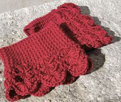 Boot Cuffs in Scarlet Red Crochet Boot Toppers by CandacesCloset, $32.00