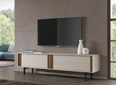 Moritz, modern wall and TV composition in 3 finish options
