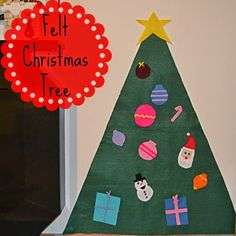 The Natural Momma in Me: Day 40: Felt Christmas Tree