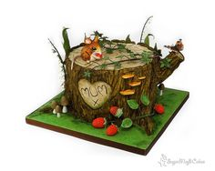 Overgrown Tree Stump - Cake by SugarMagicCakes (Christine)