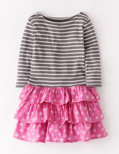 I've spotted this @BodenClothing Stripy Ruffle Dress Cloud Stripe