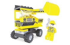 Ausini Construction City Excavator with Action Figures Building Bricks 104pc Educational Blocks Set Compatible To Lego Parts - Great Gift for Children * See this great product.