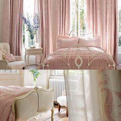 Дворцовая спальня в Розовых тонах от дизайнеров Laura Ashley! )) #интерьер #спальня #уют #стиль #розовый #lauraashleyru
