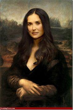 Demi Moore Gioconda www.chopinandmysaucepan.com