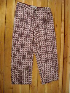Womens Nautica Sleepwear Cotton Brown Pajama Sleep Lounge Pants s Cropped | eBay