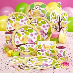 Sweet Tweet Bird Pink Deluxe Party Decorations