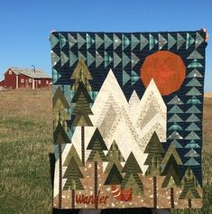 modern quilting designs Beautiful Imagine Art Print Mountain Wander Camping On Sunshine Pretty Gift For Camping Lover Quilt Quilt Baby, Boy Quilts, Cute Quilts, Textiles, Modern Quilting Designs, Quilt Designs, Quilt Design Wall, Patchwork Quilt Patterns, Tree Quilt Pattern