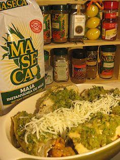 Enchiladas verdes vegetarianas