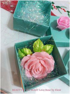 Βeauty and the Beast Love Rose soap by Eleni by ElenisLittleShop