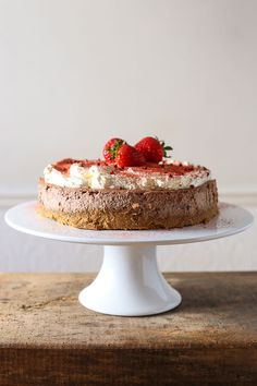 Strawberry Pink Peppercorn Cheesecake