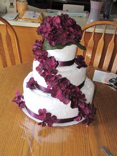 wedding cake made out of towels wedding cake made out of towels dys 23110