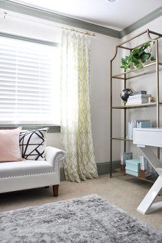 Sophisticated & Feminine Home Office | Honey We're Home & Sita Montgomery