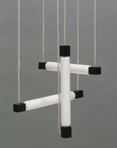 Hanging Lamp Gerrit Rietveld (Dutch, Wood, glass, and tubular bulbs, 41 x 15 x 15 x 40 x 40 cm). Art Furniture, Furniture Design, Bauhaus Furniture, Theo Van Doesburg, Eileen Gray, Art Deco, Interior Exterior, Interior Goods, Interior Design