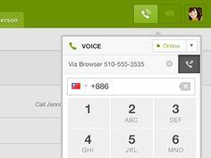 Nice phone dialer design found on Dribbble.