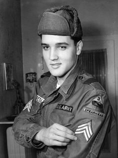 Elvis Presley...in uniform. (that pretty much sums up my dreams!)