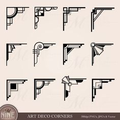 Here you find the best free Art Deco Arrow Clipart collection. You can use these free Art Deco Arrow Clipart for your websites, documents or presentations. Arte Art Deco, Moda Art Deco, Estilo Art Deco, Corner Deco, Interiores Art Deco, Muebles Art Deco, Branch Art, Art Deco Stil, Photo Album Scrapbooking