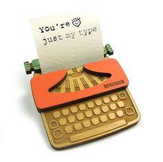 Typewriter Brooch by bRainbow