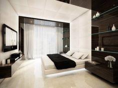 Modern b&w bedroom