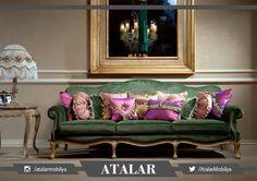 Yeşil rengin sakinleştiren ve huzur veren özelliğini Atalar'ın ihtişamlı çizgileriyle harmanlayarak sizlere vazgeçemeyeceğiniz bir koleksiyon hazırladık. Doria, zarafetin ve ihtişamın buluştuğu nokta! #homedecor #mobilya #furniture #dekorasyon #deceration #homestyle #livingroom