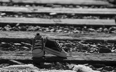 Shoes are a great maternity prop, pick out a pair that really suits your families personality and make it fun with the parents wearing a similar shoe! Jennifer R. Mason Photography: Maternity Session in Coal Creek Canyon, a shoot on the train tracks