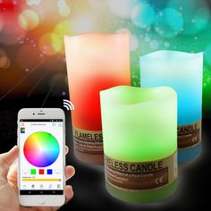 ARILUX™ AL-CL01 Bluetooth Control Smart Colorful LED Flameless Candle Light Sets for iPhone Android