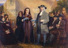 Painting: Margaret Fell and George Fox accompanied [Click through for large version] - Swarthmore Hall (w/c on paper), Penstone, John Jewell (fl.1835-95) / © Newport Museum and Art Gallery, South Wales / The Bridgeman Art Library. Available print at Allposters.com