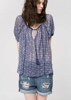 trimmed ethnic blouse Encontrado en api.shopstyle.com