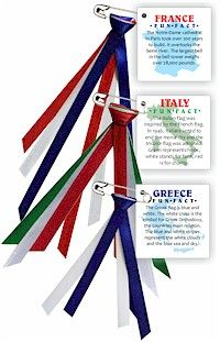 Make Girl Scout World Thinking Day SWAPs with printed facts about your country, an outline of it's shape and ribbons with the colors of the flag. There are 6 different facts (24 tags each). Choose from many different countries. Kit makes 96 and is available at MakingFriends.com