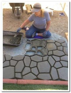 33 simple front yard backyard landscaping ideas on a budget 2019 7 33 Einfache Vorgarten Hinterhof L Backyard Projects, Backyard Patio, Patio Stone, Flagstone Patio, Patio Table, Pathway Stone, Paver Walkway, Backyard Designs, Paving Stones