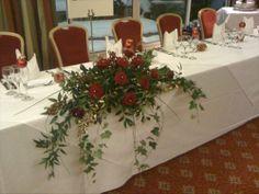 wedding flowers church | Red Rose Arrangement
