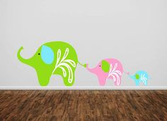 Elephant  Family- childrens nursery  -  Vinyl Lettering  decal wall words graphics  decals  Art Home decor itswritteninvinyl. $16.22, via Etsy.