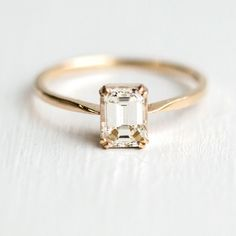 These 9 Minimalist Engagement Rings Prove That Less Can Be More - Classic Emerald Cut {Melanie Casey Jewelry} # Wedding Rings classic These 9 Minimalist Engagement Rings Prove That Less Can Be