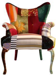Not the colors or the patterns...but the chair lines and idea is fascinating.