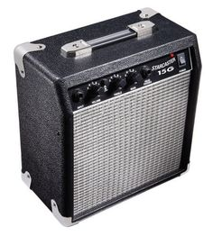 Fender Starcaster 15 Watt Electric Guitar Amplifier by Fender Starcaster. $65.00. The Fender Starcaster 15 Watt Electric Guitar Amplifier is a compact yet very powerful little amplifier.  It can be turned down low enough so that you can barely hear it or cranked up loud. There are two selectable channels, normal and drive so that you can have a nice clear sound or the distortion that a good metal riff needs. The Starcaster 15 Watt amp has an auxiliary input so tha...