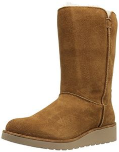 Koolaburra by UGG Women's Classic Slim Short Winter Boot, Chestnut, 9 M US -- You can find more details by visiting the image link.