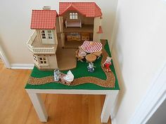 Play table for Calico critters house. Could totally make this for kiddos !
