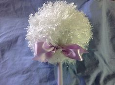 nice Lollipop body powder puff shaggy puff with handle lavender - For Sale View more at http://shipperscentral.com/wp/product/lollipop-body-powder-puff-shaggy-puff-with-handle-lavender-for-sale/
