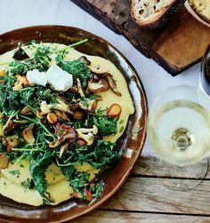 Soft Polenta With Mixed Mushrooms And Gremolata | KitchenDaily.com