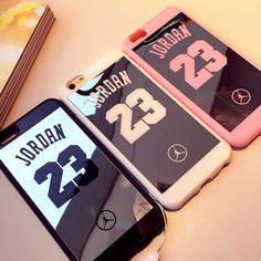 Specchio case per iphone 6 case 6 s più 5 5 s 7 plus superman jordan 23 case molle del silicone cornice della copertura posteriore casi di iphone 7 Coque