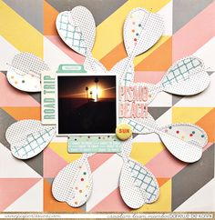 Danielle de Konink for @paperissuesteam - Cut It Up Saturday- @oct_afternoon Summertime collection - @silhouettepins   #paperissues #octoberafternoon #silhouetteamerica #scrapbooking #papercrafts #diecutting #freecutfile