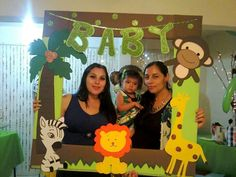 Yesenia's Baby Shower Jungle Theme Birthday, Jungle Theme Parties, Safari Party, 1st Boy Birthday, Jungle Party, Safari Theme, Jungle Safari, Happy Birthday, Baby Shower Parties