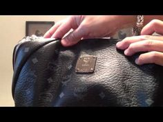 1d2a4575e3ea Authentic MCM Stark Black Studded Backpack www.youtube.com avtprojects  MCM