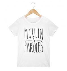 """Tee-shirt garçon """"Moulin à Parole"""" - Par Shaman pour le e-shop Monsieurtshirt.com - T-shirt original pour enfant - La LIVRAISON est GRATUITE en France"""
