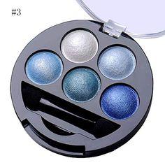 5 Colors Pigment Eyeshadow Palette Eye Shadow Powder Metallic Shimmer Makeup Beauty Profissional Make Up Warm Color Waterproof Natural Eyeshadow Looks, Eyeshadow For Brown Eyes, Eyeshadow Base, Glitter Eyeshadow, Eyeshadow Ideas, Frosted Lipstick, Blue Lipstick, Lipstick Colors, Beginner Eyeshadow