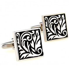 Material of Cuff-links: Zinc Alloy Shape of Cuff-links: Square with Floral Design Dimensions of Cuff-links: Inches x Inches. Hair Jewelry, Fashion Jewelry, Black Royalty, French Cuff Shirts, Golden Ring, Cufflink Set, Square, Silver Flowers, Silk Ties