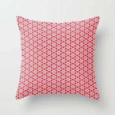 Christmas snowflakes pattern 2 by Silvia Ganora #pillows #christmas #throwpillows #holidays #homedecor #seasonal
