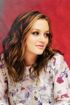 Leighton Meester-her hair!!!! Totally hair inspired want this! Hair is so similar in texture, color and length. All I need are so highlights!