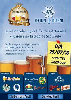 O grande dia se aproxima! A quantidade de cervejas artesanais à disposição dos degustadores no Festival de Inverno 2010é absurda: pantagruélicos 1000