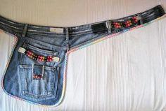 Best crafts with jeans Diy Jeans, Sewing Clothes, Diy Clothes, Jean Apron, Jean Purses, Denim Ideas, Denim Crafts, Denim Bag, Diy Fashion