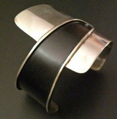 Cuff | Ed Wiener, ca 1950s.  Sterling silver (scheduled via http://www.tailwindapp.com?utm_source=pinterest&utm_medium=twpin&utm_content=post1853047&utm_campaign=scheduler_attribution)